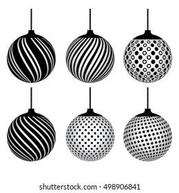 Black White Christmas Ball Bilder Stockfotos Vektorgrafiken