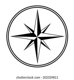 Black&White star , Compass