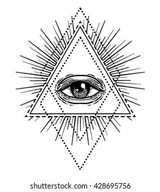 Pyramid Eye Images Stock Photos Vectors Shutterstock