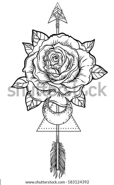 Image Vectorielle De Stock De Le Tatouage Noir Clignote