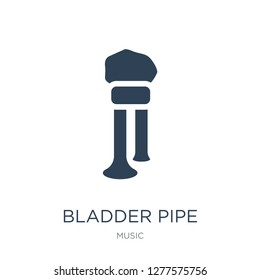 bladder pipe icon vector on white background, bladder pipe trendy filled icons from Music collection, bladder pipe vector illustration