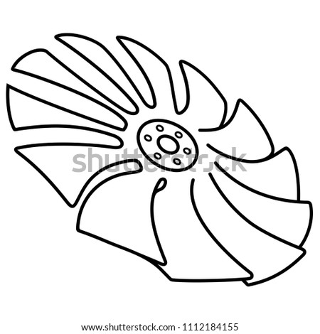 Blade Propeller Ventilator Fan Stock Vector Royalty Free