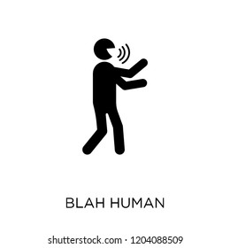 blah human icon. blah human symbol design from Feelings collection. Simple element vector illustration on white background.