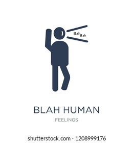 blah human icon. Trendy flat vector blah human icon on white background from Feelings collection, vector illustration can be use for web and mobile, eps10