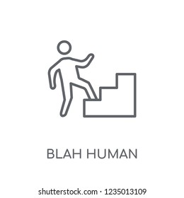 blah human linear icon. Modern outline blah human logo concept on white background from Feelings collection. Suitable for use on web apps, mobile apps and print media.