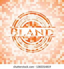 Bland abstract orange mosaic emblem