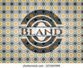 Bland arabesque style badge. arabic decoration.