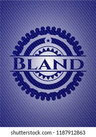 Bland badge with denim texture