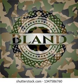 Bland camouflaged emblem