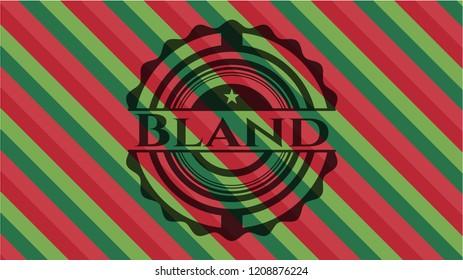 Bland christmas emblem background.