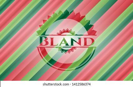 Bland christmas emblem. Vector Illustration. Detailed.