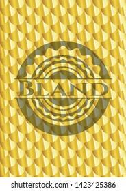 Bland gold shiny emblem. Scales pattern. Vector Illustration. Detailed.