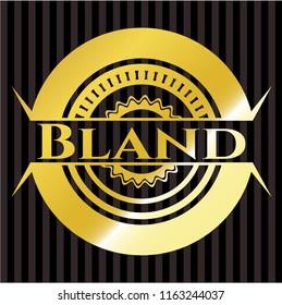 Bland golden emblem or badge