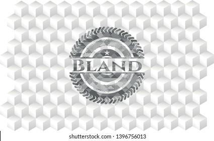 Bland grey emblem. Vintage with geometric cube white background
