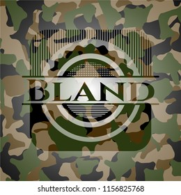 Bland on camo pattern
