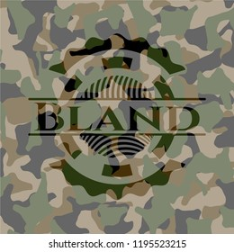 Bland on camo pattern