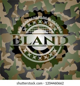 Bland on camouflaged pattern