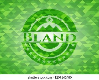 Bland realistic green mosaic emblem