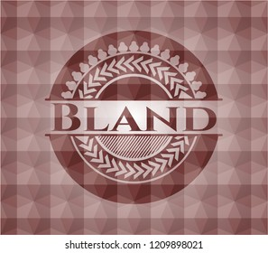Bland red seamless polygonal badge.