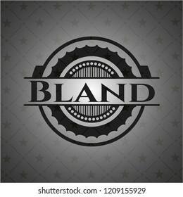 Bland retro style black emblem