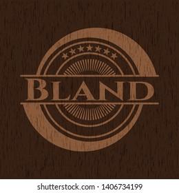 Bland retro wooden emblem. Vector Illustration.