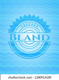 Bland sky blue water wave badge.
