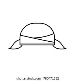 blangkon hat icon outline