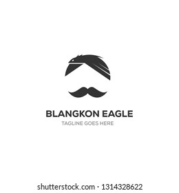 Blangkon is a traditional hat from the territory of Indonesia and eagle symbol, logo designs inspirations, illustrations