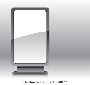 Blank advertising billboard or roll up display vector illustration