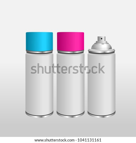 Blank Aluminium Spray Can Template Paint Stock Vector Royalty Free