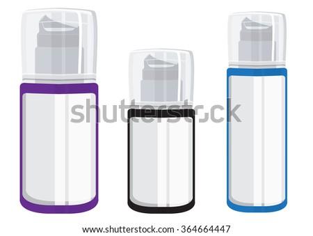 Blank Aluminium Spray Can Template Transparent Stock Vector Royalty
