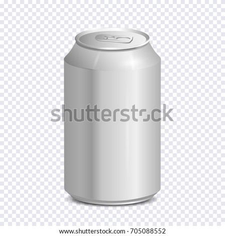 blank aluminum soda can on transparent のベクター画像素材