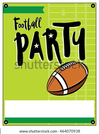 blank american football party flyer template stock vector royalty