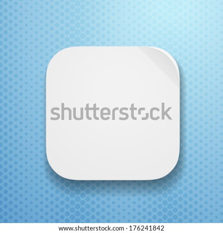 blank app icon template flatted paper stock vector royalty free