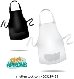 Blank aprons. EPS 10 vector.