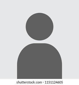 Blank avatar. Photo placeholder. Flat vector image.
