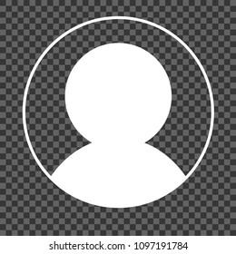 Blank avatar placeholder on transparent background