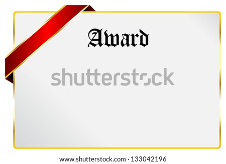 blank award diploma certificate document stock vector royalty free