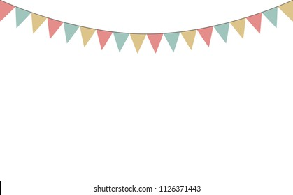 Blank banner, bunting or swag templates for scrapbooking parties, spring, Easter, baby showers and sales, on transparent background, in vector format