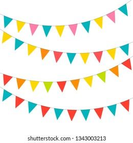 Blank banner, bunting or swag templates for scrapbooking parties, spring, Easter, birthday