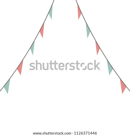 blank banner bunting swag templates scrapbooking stock vector