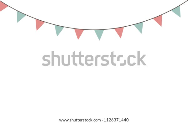 Blank Banner Bunting Swag Templates Scrapbooking Stock