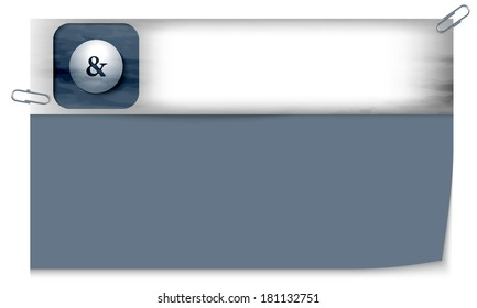blank banner with dark texture and ampersand