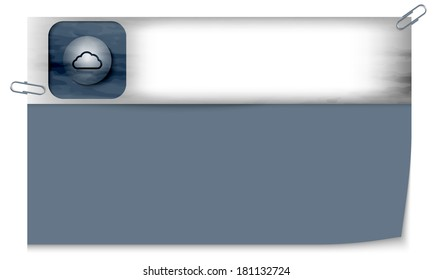 blank banner with dark texture and cloud icon