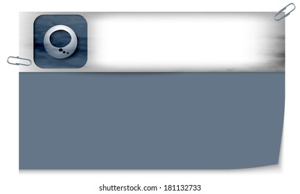 blank banner with dark texture and speech bubble