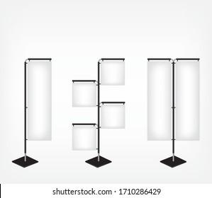 Blank banner flag background illustration