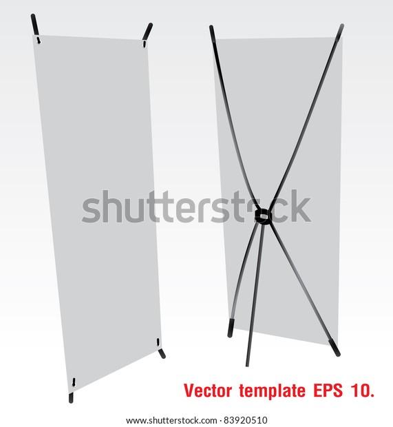Blank Banner Xstands Vector Template Design Stock Vector (Royalty