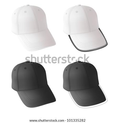blank baseball cap template のベクター画像素材 ロイヤリティフリー