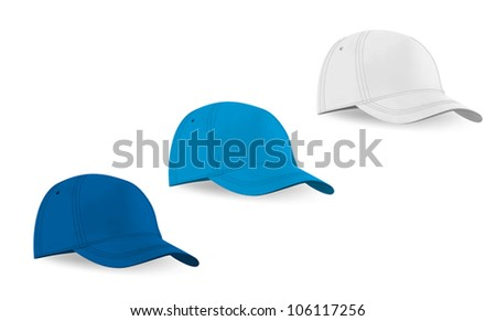 blank baseball hat template stock vector royalty free 106117256