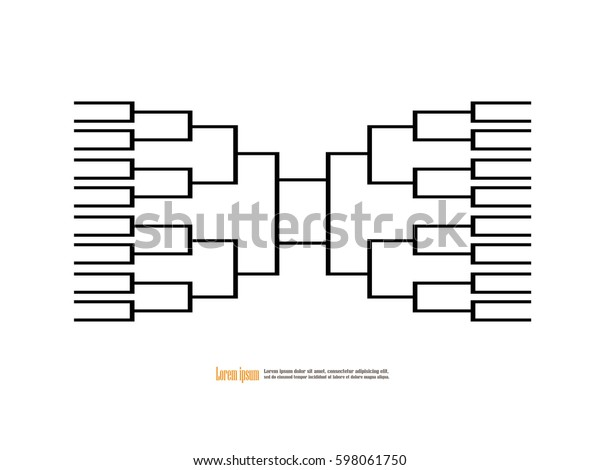 Blank Basketball Tournament Bracket On Backgroundvector Stock Vector